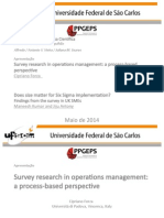 Survey research in operations