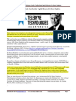 Teledyne and Henry Singleton a CS of a Great Capital Allocator