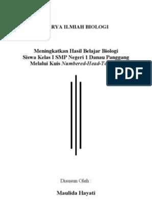 Contoh Laporan Hasil Penelitian Karya Ilmiah Biologi Kumpulan Contoh Laporan