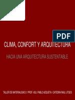Pablo Azqueta_Clima, Confort y Arquitectura