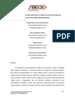 A Demanda Dos Setores Criativos e a Oferta de Políticas Públicas Um Estudo Sobre Adequabilidade