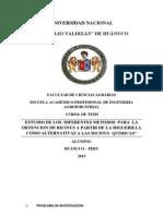 Obtencion de Los Diferentes Metodos en La Extraccion de Resina Higuerilla