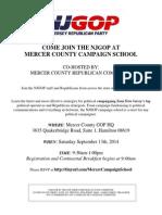2014 Campaign School Flyer - Mercer