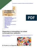 Fluroquinolones Schade Herstelen Met Magnesium