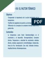 Factor Termico