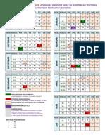 ŠKOLSKI KALENDAR ZA 2014/15. GODINU ZA OSNOVNE ŠKOLE SA SEDIŠTEM NA TERITORIJI AUTONOMNE POKRAJINE VOJVODINE