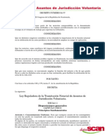 Ley Reguladora de Asuntos Jurisdiccion Voluntaria