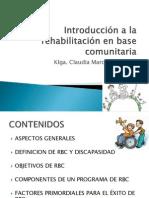 CLASE 1 Introducción a La Rehabilitación en Base Comunitaria