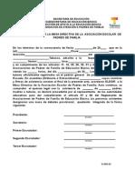 Acta Constitutiva de Asociaciones de Padres de Familia