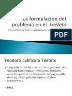 2. La Formulacin Del Problema en El Teeteto