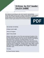 History of Eritrea by Osman Saleh Sabe