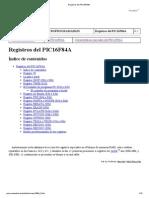 Registros Del PIC16F84A