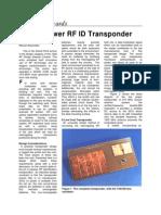 A Low Power RF ID Transponder