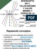 Tema 2 Intercepto en y Maximos y Minimos Practica Adicional Ejercicios 2013 Para Imprimir