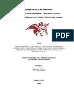 Clima Social Familiar y Rendimiento Academico Trabajo Monografico