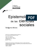 Epistemologia de Las Ciencias Sociales. Guillermo Briones
