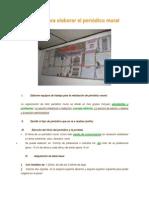 Pasos Para Elaborar El Periodico Mural