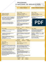Programa I Congreso Nacional de Arqueologia