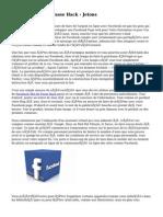 Facebook Mot de Passe Hack -  Jetons