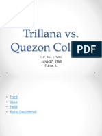 Trillana vs Quezon College