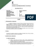 Silabo Matemática I