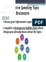 informative topic brainstorm ppt
