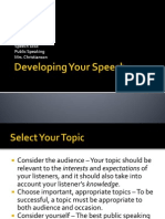 1 14  developing your speech