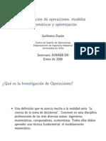 I.O. Modelamento  Matematico y Optimziacion