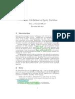Performance Attribution for Equity Portfolios