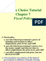 Fiscal Policy Tutorial