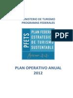 Plan Operativo 2012 PFETS