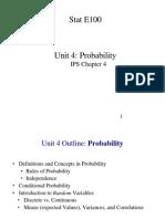Unit 04 - Probability - 1 Per Page