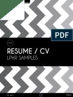 LPHR's FREE CV Sampler Kit