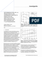 Determinación de La Resistencia Del Hormigón Mediante Ensayos No Destructivos Realizados Con Esclerómetro y Ultrasonidos
