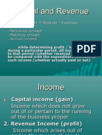 Capital and Revenue