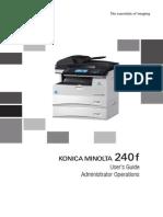 Konica Minolta 240f Ug Administrator Operations en 1-1-0