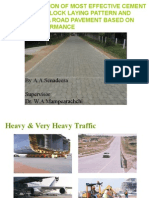 1A1 Determination of an Effective Laying Pattern and Best Block Shape for Concrete Block Pavement