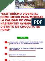 Ecoturismo Vivencial Como Medio Para Mejorar La Calidad de Vida de Los Habitantes Aymaras de El Distrito de Chucuito en Puno