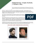 The Jewish Hand Behind Internet - Google, Facebook, Wikipedia, Yahoo!, MySpace, eBay...