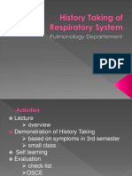 HISTORY TAKING OF RESPIRATORY SYSTEM 2003.ppt