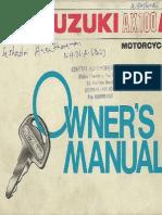 TVS-Suzuki AX100R Owner's Manual