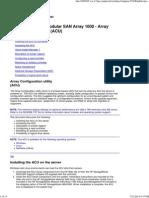 HP StorageWorks Modular SAN Array 1000 - Array Configuration Utility (ACU)
