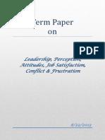 Term Paper on Organization Bahavior