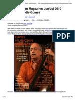 Eddie Gomez - Bass Musician Magazine - 2010.06.