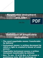 4 4 09Negotiable Instrument Act,1881