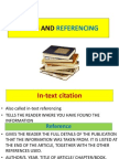 Citing and Referencing