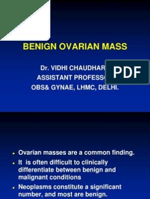 Benign Ovarian Mass Ovarian Cancer Neoplasms