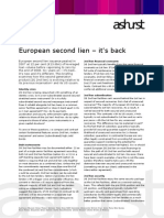 European second lien issuance