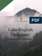 Galo-English Dictionary (International Edition)
