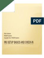 IMU Setup Basics and Checkin